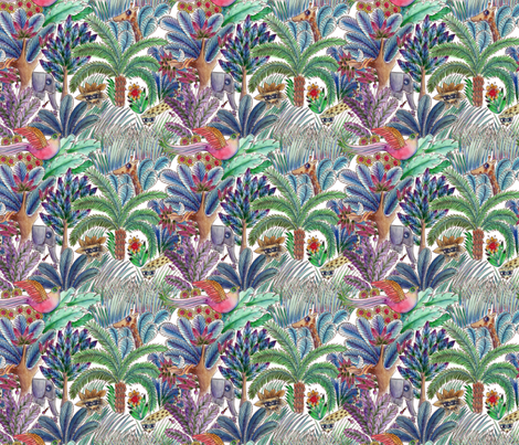 jungle color fabric by nadja_petremand on Spoonflower - custom fabric