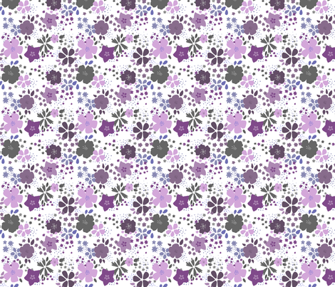 Funky Purple Flowers fabric by purplesprinkles on Spoonflower - custom fabric