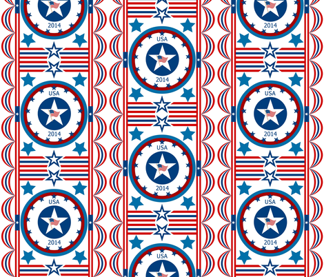 Stars and stripes fabric by paragonstudios on Spoonflower - custom fabric