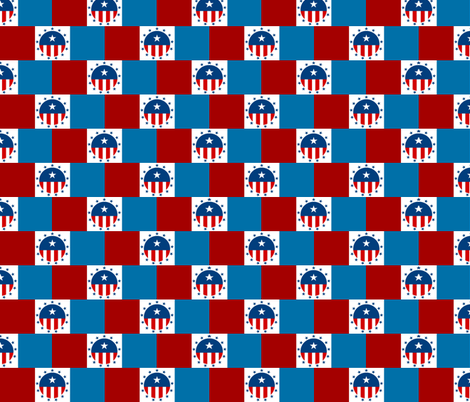 RED WHITE BLUE HB fabric by paragonstudios on Spoonflower - custom fabric