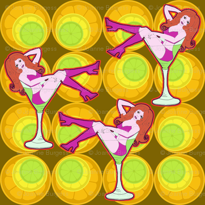cherry in the cocktail! (fruit slice wallpaper)