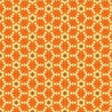 kaleidoscope leaves - orange fabric by weavingmajor on Spoonflower - custom fabric