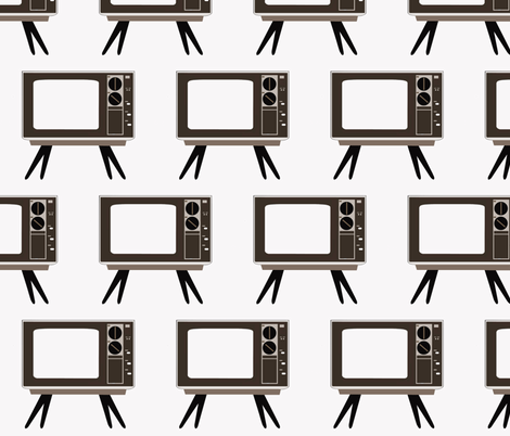 Retro Television fabric by dorolimited on Spoonflower - custom fabric