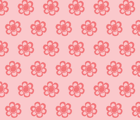 simply pink flowers fabric by arteija on Spoonflower - custom fabric