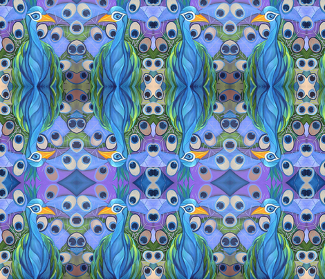 The Peacock fabric by kristenstein on Spoonflower - custom fabric