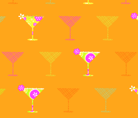 Tipsy fabric by flock on Spoonflower - custom fabric