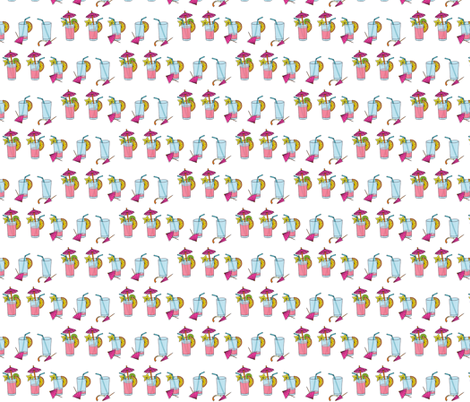 A Pink Passion - Small Repeat fabric by annosch on Spoonflower - custom fabric