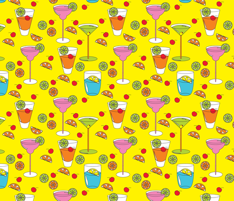 Happy_Highballs fabric by deesignor on Spoonflower - custom fabric