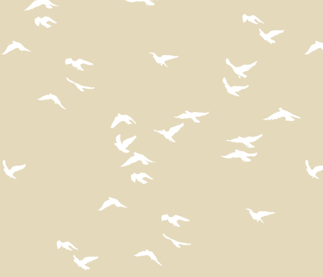 Birds Fawn fabric by bunni on Spoonflower - custom fabric