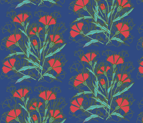 8nelken fabric by eva_the_hun on Spoonflower - custom fabric