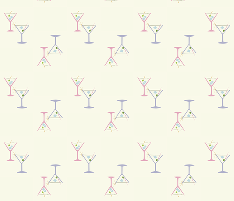 50s Martini Cocktails fabric by jazilla on Spoonflower - custom fabric