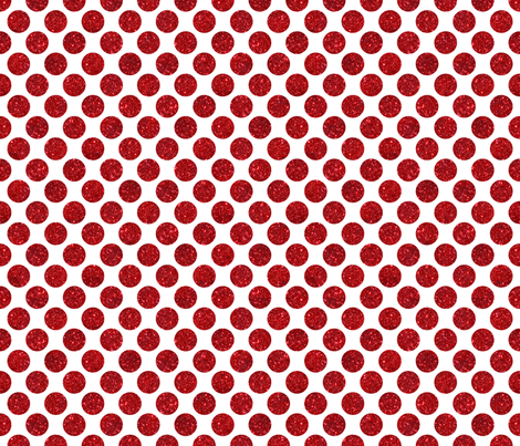Glitter Dot Red fabric by cynthiafrenette on Spoonflower - custom fabric