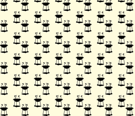 BBQ Silhouette fabric by herartsheloves on Spoonflower - custom fabric