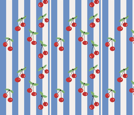 50sCherries fabric by spinja on Spoonflower - custom fabric
