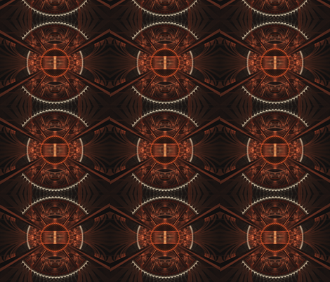 The Helm of the Steamship fabric by winter on Spoonflower - custom fabric