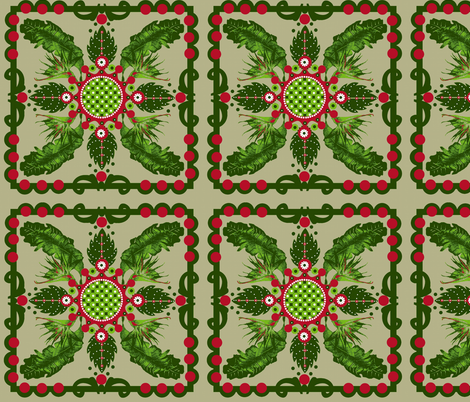 Hawaiian Christmas fabric by paragonstudios on Spoonflower - custom fabric