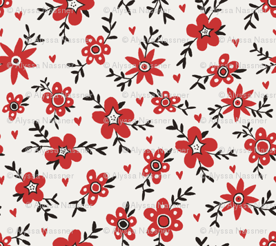 50's Inspired Floral