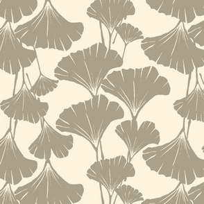 cream and khaki ginkgo leaves