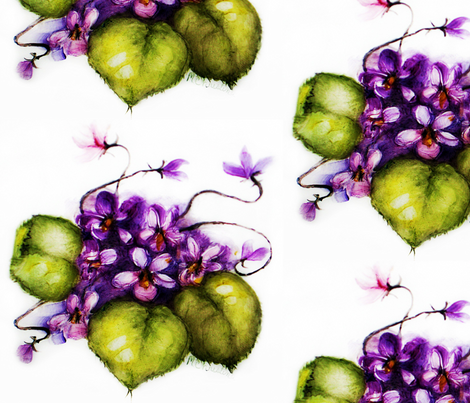 Violets fabric by paragonstudios on Spoonflower - custom fabric