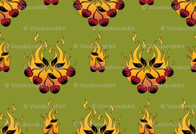 Flaming Cherry Tattoo Large - C