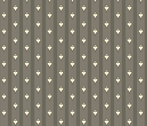 Heart of Darts - Stripe fabric by voodoorabbit on Spoonflower - custom fabric