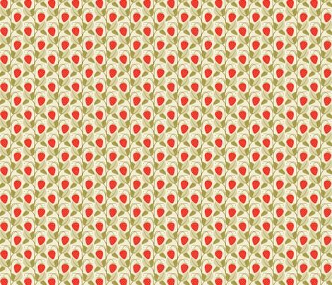 strawberry patch fabric by cindylindgren on Spoonflower - custom fabric