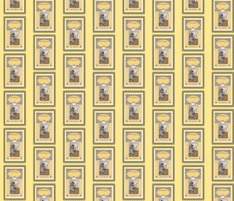Jane Austen bookplates Yellow fabric by karenharveycox on Spoonflower - custom fabric