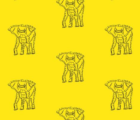 Elephant Calligram