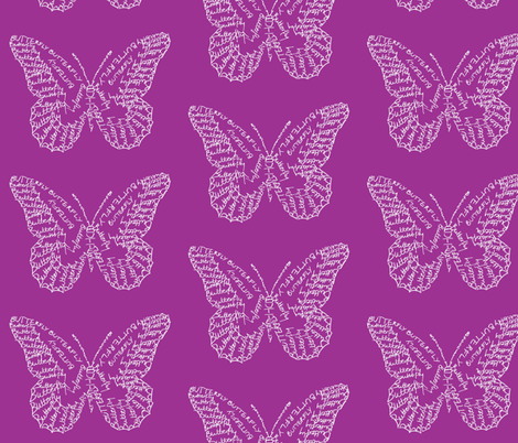 Butterfly Calligram fabric by blue_jacaranda on Spoonflower - custom fabric