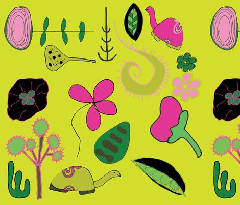 Pea Pod Strut 1 fabric by sbd on Spoonflower - custom fabric