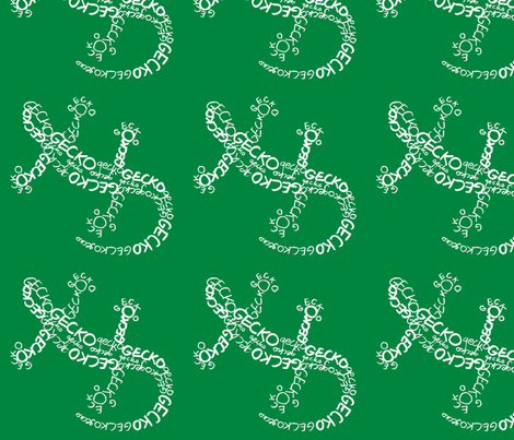 Gecko Calligram fabric by blue_jacaranda on Spoonflower - custom fabric