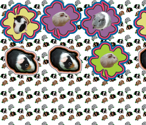 Guinea Pig FQ patches fabric by upcyclepatch on Spoonflower - custom fabric