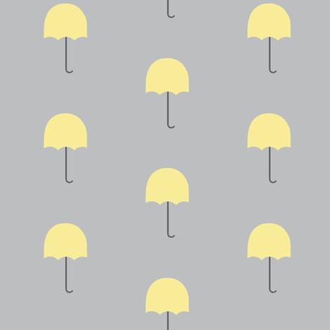 Zekie Umbrella  /buttercup fabric by paragonstudios on Spoonflower - custom fabric
