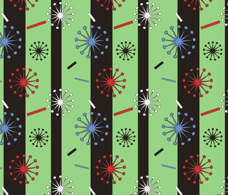 Retro Confetti Bursts fabric by pantsmonkey on Spoonflower - custom fabric