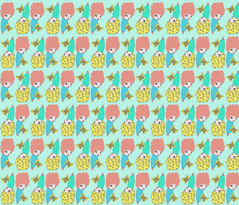 butterfly hair fabric by myers-cho on Spoonflower - custom fabric