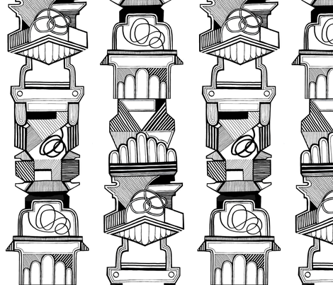 totem fabric by leonielovesyou on Spoonflower - custom fabric