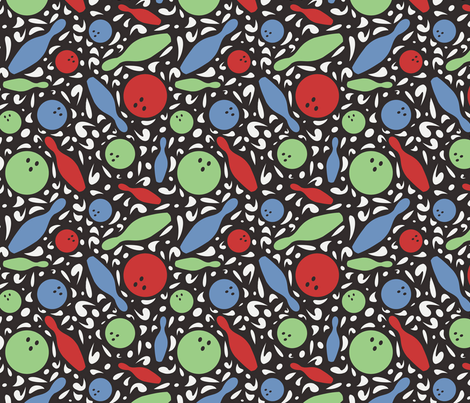 Bowling 50's Style fabric by lulakiti on Spoonflower - custom fabric