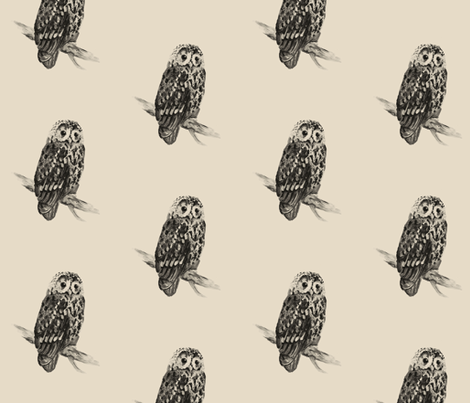 Owl fabric by taraput on Spoonflower - custom fabric