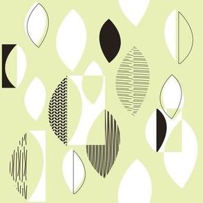 50s Fabric White