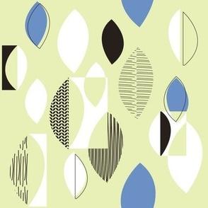 50s Fabric Blue