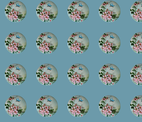 Wild Roses and Butterfly  fabric by paragonstudios on Spoonflower - custom fabric