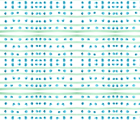 C'EST LA VIV™ Circles and Squares Collection_BLUE DOTTY STRIPES fabric by cest_la_viv on Spoonflower - custom fabric