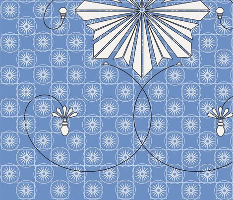 Starflower fabric by island_girl_designs on Spoonflower - custom fabric