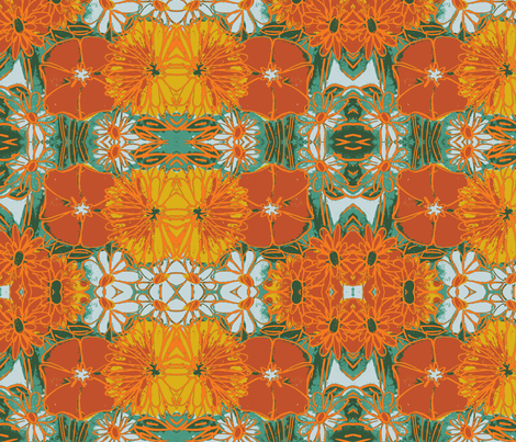 floral explosion fabric by arteija on Spoonflower - custom fabric
