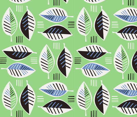 leaf2 fabric by antoniamanda on Spoonflower - custom fabric