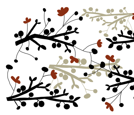 fabric_blossoming_branches3 fabric by emilyb123 on Spoonflower - custom fabric
