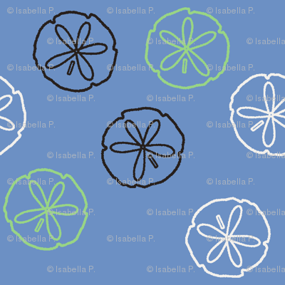 Sea Gift - Sand Dollars blue