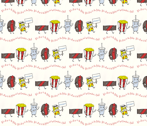 Let's all go to the Lobby! fabric by lulakiti on Spoonflower - custom fabric