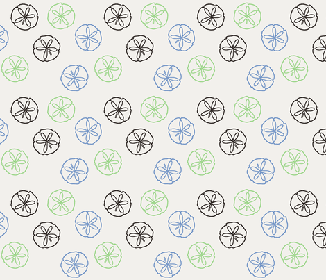 Sea Gift - Sand Dollars white fabric by inscribed_here on Spoonflower - custom fabric