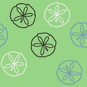 Sea Gift - Sand Dollars green